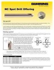 NC Spot Drill Offering - Guhring