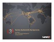 Big Data, Big Bandwidth, Big Opportunity
