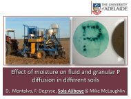 Effect of moisture on fluid and granular P diffusion in different ...