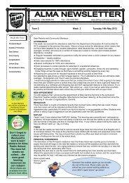 15 Newsletter Term 2, Week 3 - 2013 Week 20 [pdf, 2 MB]