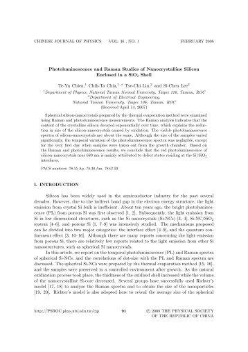 Photoluminescence and Raman  Studies of Nanocrystalline ... -  NTUR
