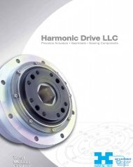 Harmonic Drive 2011 Catalog - Electromate Industrial Sales Limited
