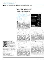 Textbook Decisions - Decision Sciences Institute