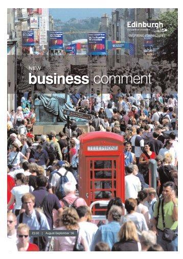 Ed Aug-Sept FC - The Edinburgh Chamber of Commerce