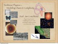 Slides [PDF] - Complexity Sciences Center