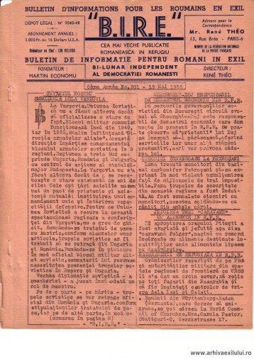 BIRE NR. 201 - arhivaexilului.ro