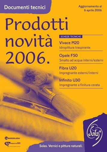 Prodotti nuovi 2006 in A3 - Solas
