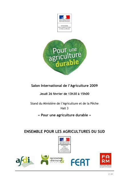 ENSEMBLE POUR LES AGRICULTURES DU SUD - Fondation FARM