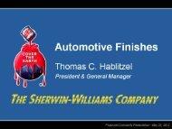 Automotive Finishes - Sherwin Williams