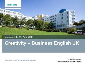 Creativity – Business English UK