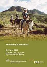 Travel by Australians - Quarterly Results of the National Visitor Survey