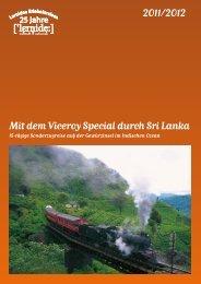 Mit dem Viceroy Special durch Sri Lanka 2011/2012