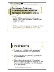 Presentazione del Centro - Centro provinciale per l'Adattamento dell ...