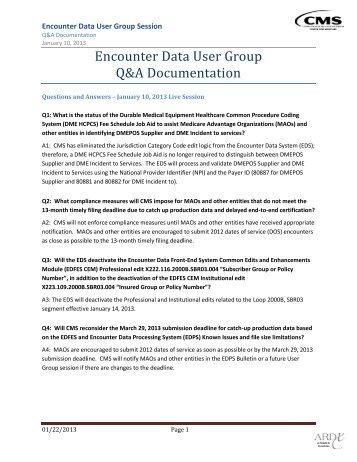 January_10_2013_User_Group_QA_ ... - CSSC Operations