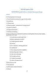 Výročná správa 2011 KOMUNÁLNA poisťovňa, as Vienna Insurance ...