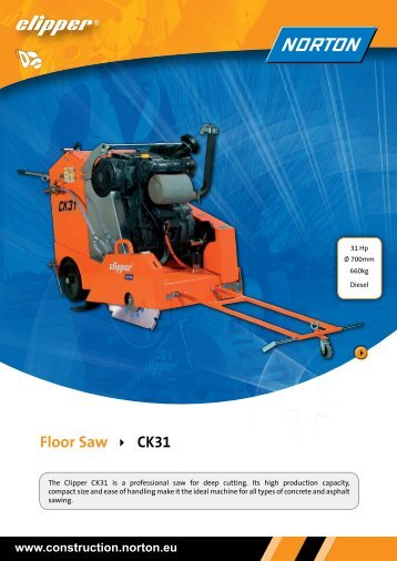Floor Saw CK31 - Norton Construction Products