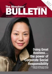 the power of Corporate Social Responsibility - Singapore Institute of ...