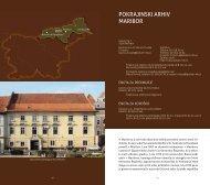 V Mariboru je arhivska dejavnost dobila potrebno osnovo sredi 19 ...