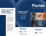 FMMM Brochure - Pinellas County Extension - University of Florida