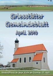 Gemeindeblatt April 2010 - Griesstätt