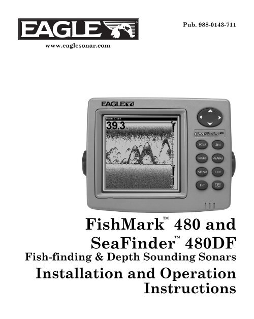 Eagle Fishmark480 Fish Finder Only Fishmark480 head+cover ,no other accessories