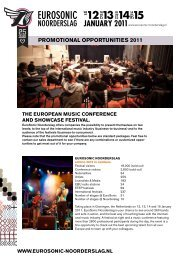 PROMOTIONAL OPPORTUNITIES 2011 - Buma Cultuur