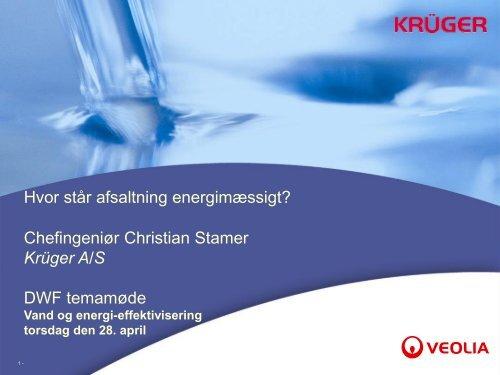 Dias nummer 1 - Danish Water Forum