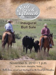 Download Catalog (PDF | 3.8 MB) - Salt Creek Ranch