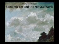 Romanticism and the Natural World