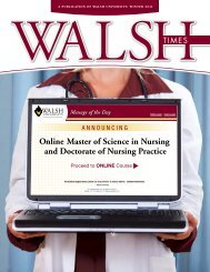 Online Master of Science in Nursing and Doctorate - Walsh University