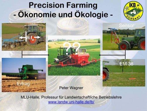 Precision Farming - Ökonomie und Ökologie -