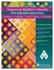 2013rules_booklet.indd 1 2/27/12 9:09 AM - AQS QuiltWeek ...