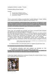 Avaliação de História I unidade - 7ºs anos Professora Mônica Nunes ...
