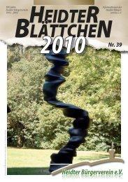 Heidter Blättchen 2010 Nr.39.indd - Heidter Bürgerverein