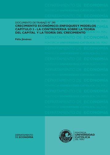 Crecimiento económico: enfoques y modelos. Capítulo 3 - Pontificia ...