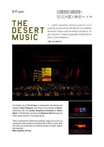 THE DESERT MUSIC - D-Fuse