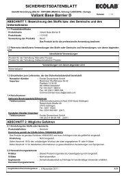 VALIANT BASE BARRIER Sicherheitsdatenblatt - ABS Deutschland ...