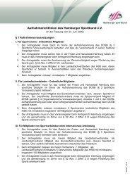 Aufnahmerichtlinien des Hamburger Sportbund e.V.