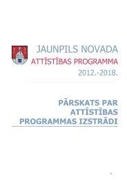 JAUNPILS NOVADA - Rīgas Plānošanas Reģions