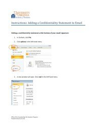 Instructions: Adding a Confidentiality Statement to Email