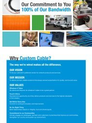 Corporate Capabilities Guide - Custom Cable Industries