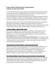 Argumentation pro Tageszeitung - Bayerischer-Wald