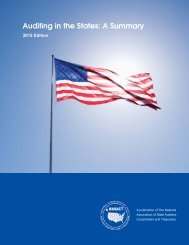 Auditing in the States: A Summary, 2012 edition - NASACT