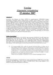 Verslag Algemene vergadering 25 oktober 2007 - Vilvoorde