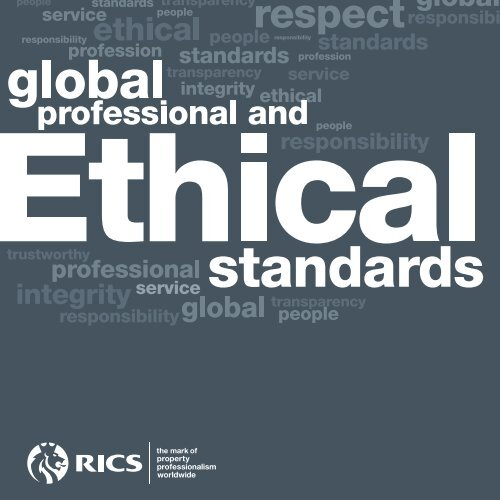 View the new global professional and ethical standards - RICS ASIA