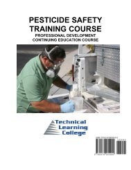Pesticide Safety Training - Technical Learning College
