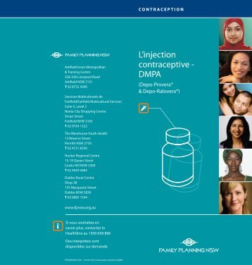 L'injection contraceptive - DMPA - Family Planning NSW