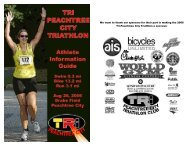 We want to thank our sponsors for their - Tri-PTC Triathlon Club