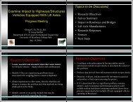 Examine Impact to Highways/Structures Vehicles Equipped With Lift ...
