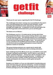 Thank you for your query regarding the Get Fit Challenge. The ...
